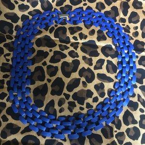 Cobalt blue collar necklace